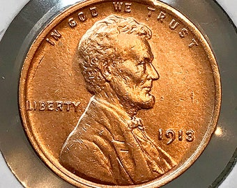 1913 P Lincoln Wheat Cent - Choice BU / MS / Unc
