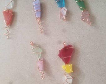 Sea glass pendents