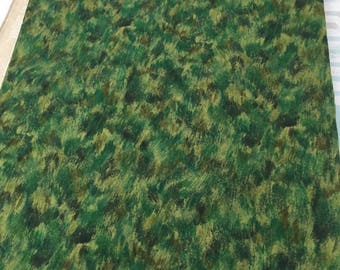 "Cotton Fabric - Green Print Fabric - Cotton Quilt Fabric - Craft Fabric - 2/3 Yard Cotton Fabric - 24"" cut fabric Quilt Fabric Fabric Scraps"