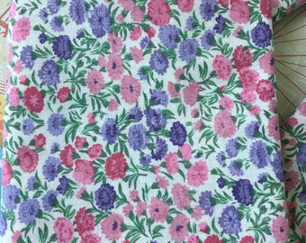 Pink Fat Quarter Floral Fat Quarter Floral Cotton Fabric Quilt Cotton Fabric Destash Cotton Fat Quarter