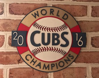 Very Rare Chicago Cubs limited edition 3d  wooden mancave sign unique gift!