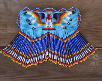 Native American Beaded Hair Barrette  Beaded Barrette Beaded Hair Clip Beaded Thunderbird Barrette