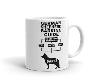 German Shepherd Barking Guide Mug - Funny Cute German Shepherd Gift - Dog Lover - Coffee Mug