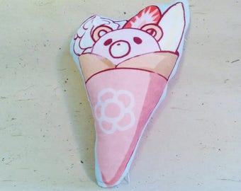 "Double sided cushion || Minky cushion || Crepe || Street food || character cushion || pillow || decor || Japanese || 12"""