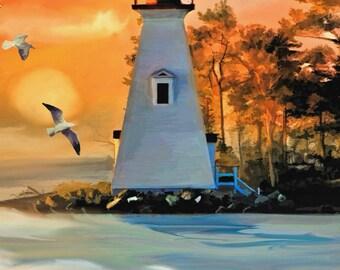 Address Book Lighthouse Sunset