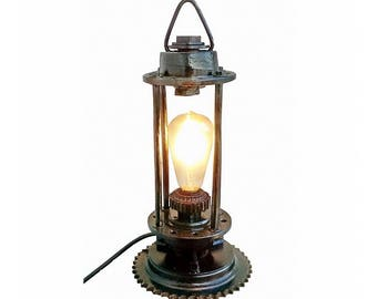 Lantern Loft Dining Room Lighting Vintage Rustic Nightstand Lamps Steampunk Desk Lamp Industrial Pipe