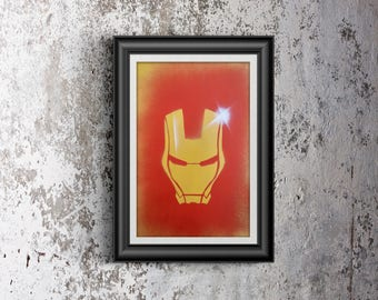 custom iron man spray painting!