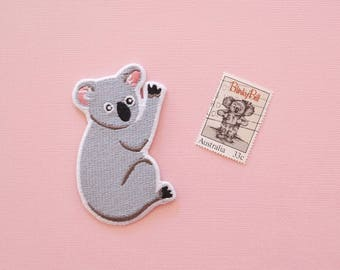 Koala Embroidered Iron On Patch