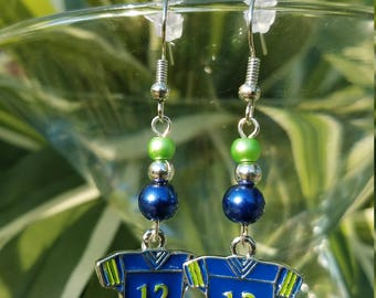 Seahawks #12 Jersey Earrings