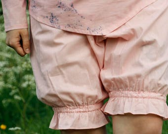 Victorian Pink Cotton Women Bloomers with Elastic waistband