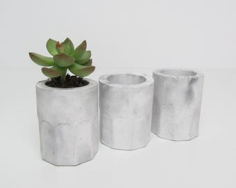 Concrete Pot | Concrete Planter | Succulent Pot | Hair Grips | Marbled Concrete | Cement Pot | Cactus Pot
