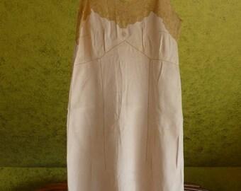 1920 Lingerie, apricot, antique lingerie, antique Negligee, antique Dessous, antique Camisole