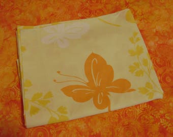 Springmaid Pillowcase / Yellow Floral with Butterflies