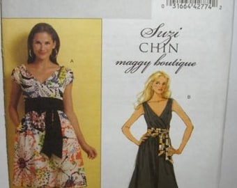 Summer Sale Womens/Misses Suzi Chen Dresses & Sash Sewing Pattern/Butterick B5319 Size 8-14