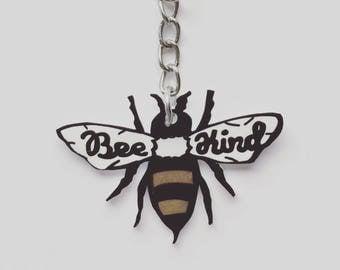 Bee keychain, shrink plastic