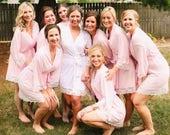 Bachelorette Party, Bridesmaid Gift, Bridesmaid Robe, Personalized Bridesmaid Robe, Monogram Bridesmaid Robe, Blush Robes, Bridal Robes