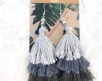 NEW 3-Tiered Tassel Earrings || Moonlight