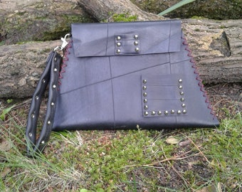 Air Chamber handmade clutch bag