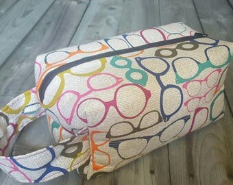 Medium Sized Project Bag for Knitting or Crochet; Box Bag; Toiletry or Makeup Bag - So Nerdy!