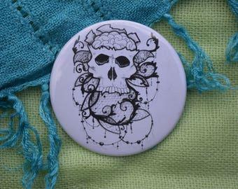 "Skull Tattoo 2"" Button"