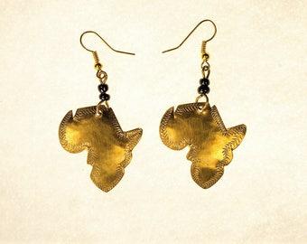 Africa Earrings (Brass)