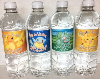 Pokemon Party Supplies. Pokemon Birthday Decorations. Pokemon Theme Birthday. Pokemon Water Labels. Pokemon Water Bottles. Pokemon Favors.