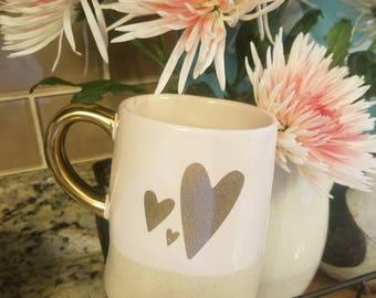Light pink heart mug