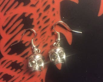 1/2 skull earrings