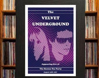 Velvet Underground Concert Poster