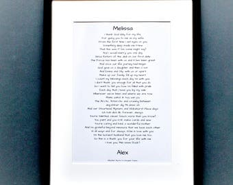 Personal love poem, commission a love poem, unique love poem, love poem to order, just because poem, I love you poem
