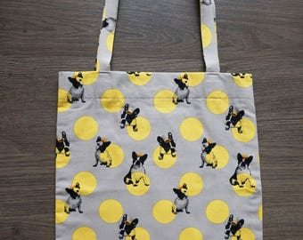 Tote bag, market bag, shopping bag - French Bulldog Ink