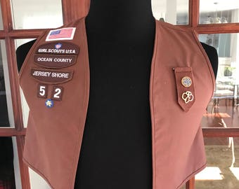 Girl Scouts of America Vest and pins