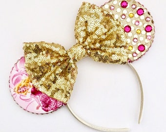 The Aurora - Handmade Sleeping Beauty Inspired Mouse Ears Headband