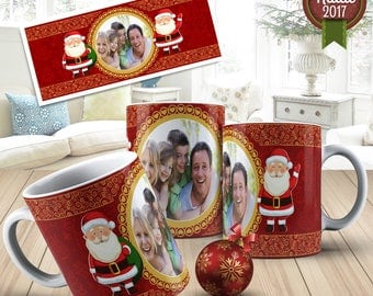 Christmas Digital Template Mug  015