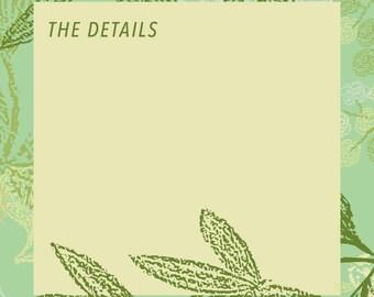 Greenery Enclosure Card