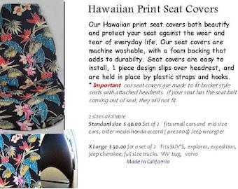 Island Batik Car Seat Covers
