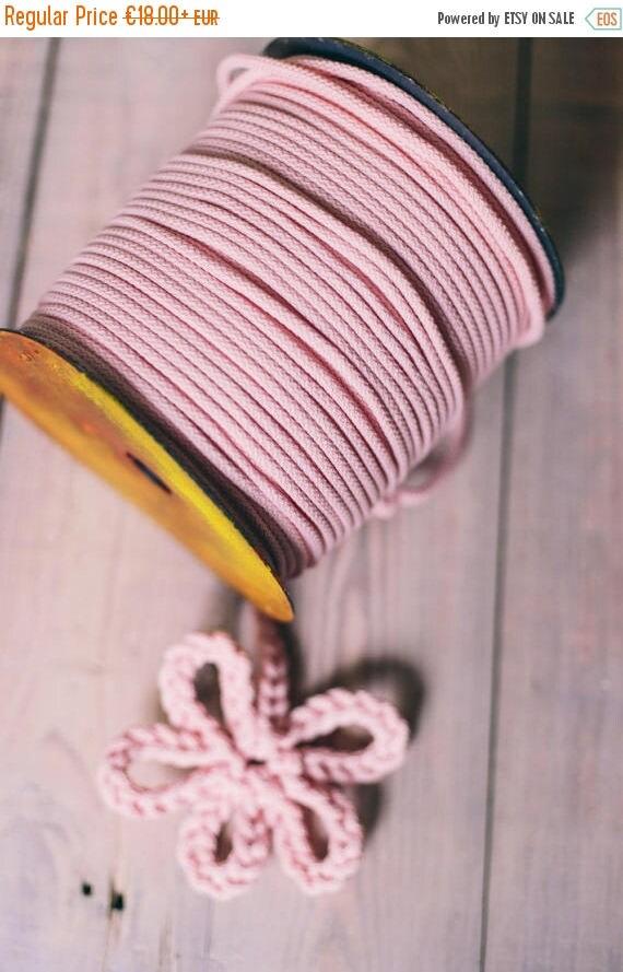 SALE 30 % PINK cord- chunky yarn- diy projects- craft projects- rope cord- macrame cord- knitting supplies- knitting yarn- crochet rope- yar
