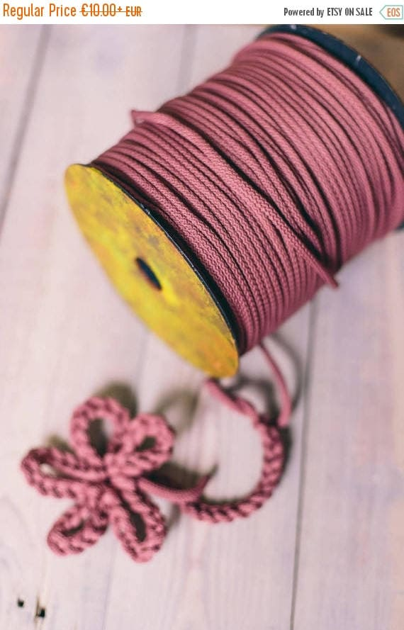 15 % OFF DARK PINK cord- knitting supplies- knitting yarn- crochet rope- chunky yarn- diy projects- craft projects- rope cord- macrame cord