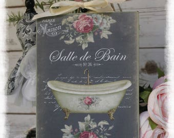 "Vintage ""SALLE DE BAIN"" ~ Shabby Chic French Country Cottage style ~ Wall Decor Sign"