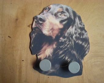 GORDON SETTER DOG WALL RACK