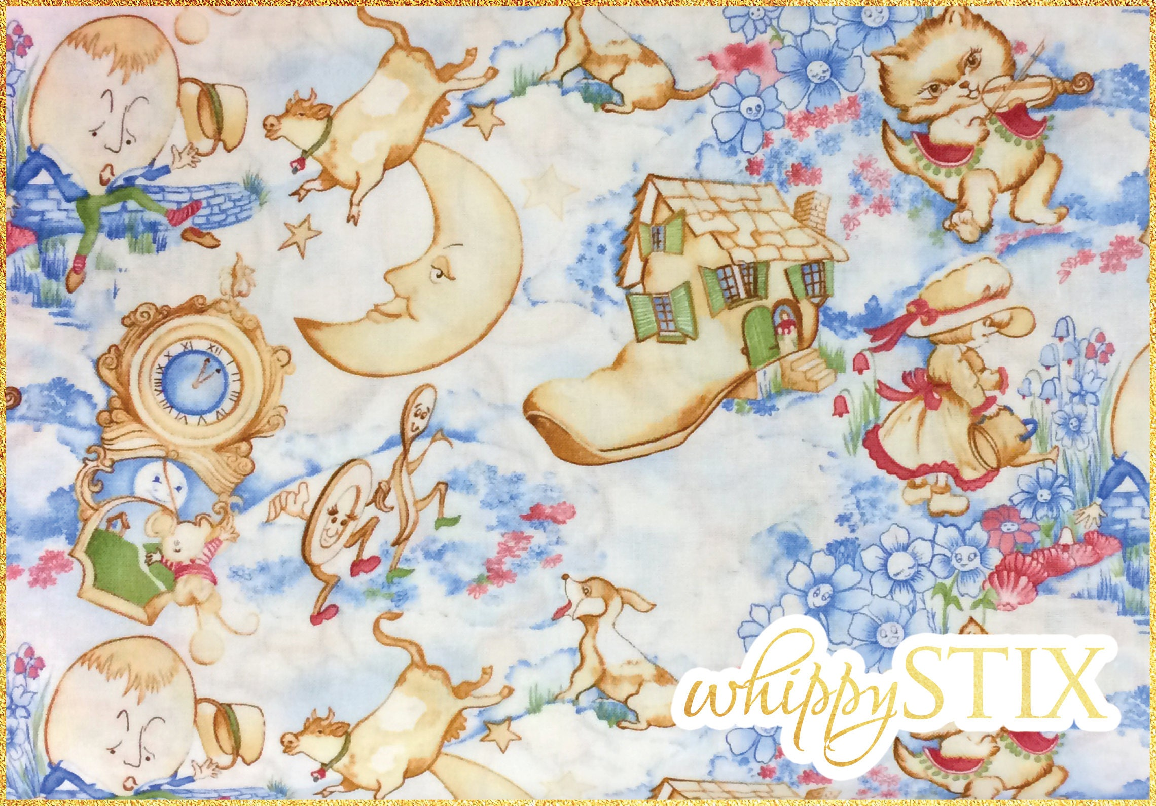 Nursery Rhymes Fabric By The Yard Westrade Collection K6144a