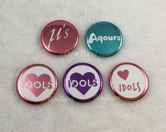 LOVE LIVE Idols Muse Aqours Buttons