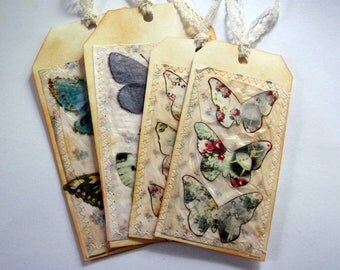 Hand made, butterfly tag set 22
