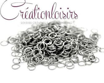 100 rings of junction open stainless steel 5 mm