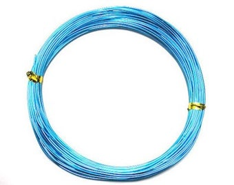Aluminum 1 mm x 10 m blue turquoise for creations