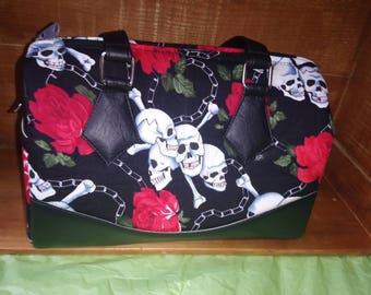 Skulls and roses handbag