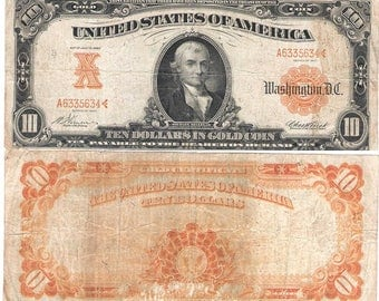 1922 100 00 Gold Certificate F1215 Good Condition