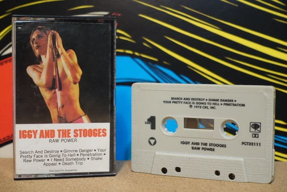 Raw Power by The Stooges Vintage Cassette Tape