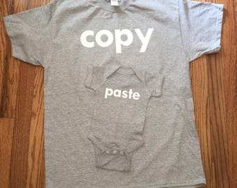 Copy and Paste Onesie T Shirt set