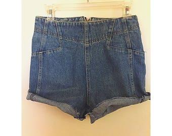 70s Biker Babe Jean Shorts